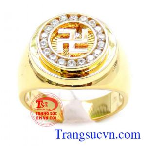 Nhẫn vàng chữ vạn