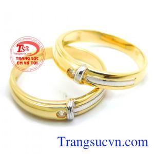 Cặp nhẫn cưới 18k nút thắt hạnh phúc