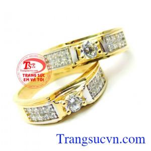 Cặp nhẫn cưới 18k Italy may mắn