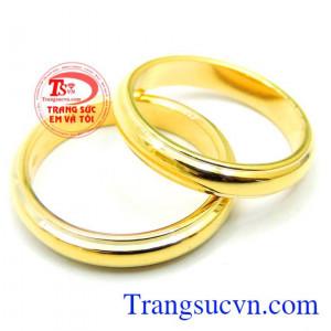 Nhẫn cưới trơn 18k