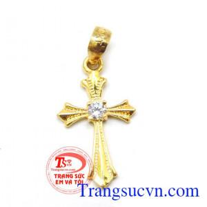 Mặt thánh giá vàng đá