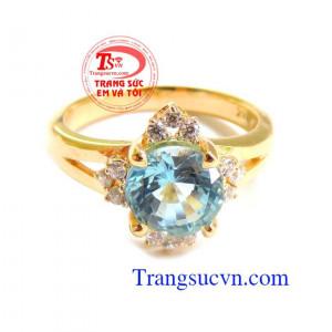 Nhẫn vàng nữ đá Topaz