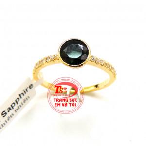Nhẫn nữ Sapphire hạnh phúc