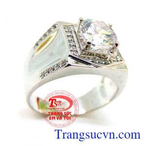 Nhẫn vàng trắng tinh tế