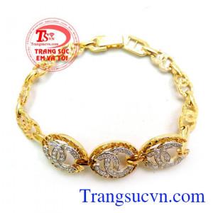 Lắc vàng 18k Chanel