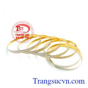 Vòng tuần vàng 18k italy gồm 7 chiếc,vòng tuần vàng 18k nhập khẩu italy chất lượng vàng đảm bảo.