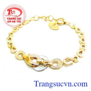 Lắc nữ italy vàng 18k
