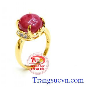 Nhẫn vàng Ruby đỏ