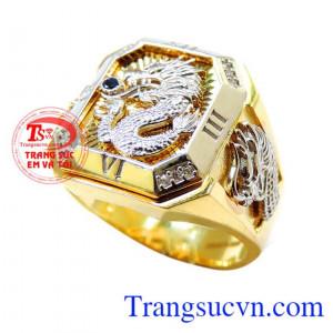 Nhẫn vàng rồng 3d chiêu tiền