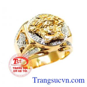 Nhẫn nam versace vàng
