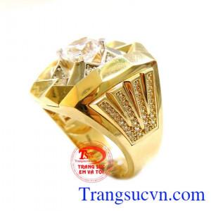 Nhẫn nam to vàng đẹp