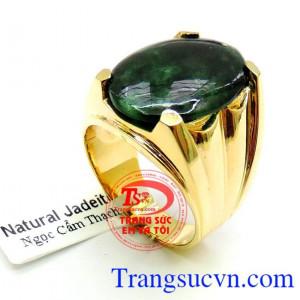 Nhẫn vàng đá Mệnh Hỏa và Mộc