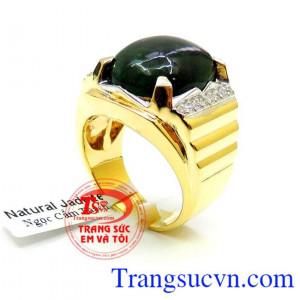 Nhẫn Nam Vàng Ngọc Phỉ Thúy