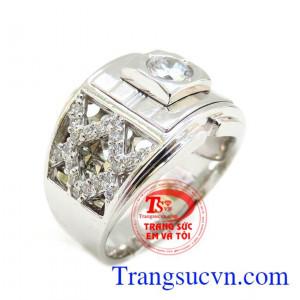 Nhẫn nam vàng trắng ý 18k đảm bảo chất lượng đảm bảo uy tín