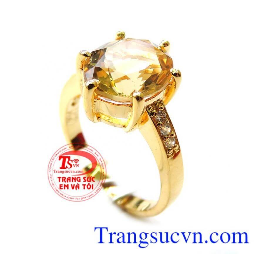Chiếc nhẫn Citrin đeo tốt cho sức khỏe