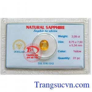 Viên đá Sapphire vàng