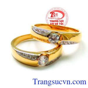 Nhẫn cưới vàng 18k Vàng