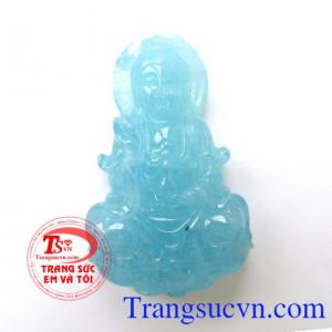 Phật quan âm đá Aquamarine