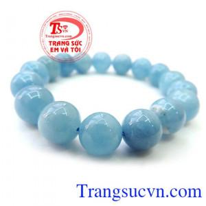 Chuỗi tay Aquamarine màu xanh nước biển