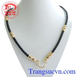 Dây da bọc vàng,dây da bên bọc vàng rồng nổi tinh tế phù hợp làm món quà dành cho nam