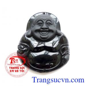 Mặt Phật Di Lặc Cầm vàng