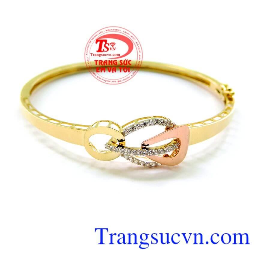 Vòng vàng nữ, vòng tay vàng tây nữ thiết kế kiểu dáng Korea thanh lịch.