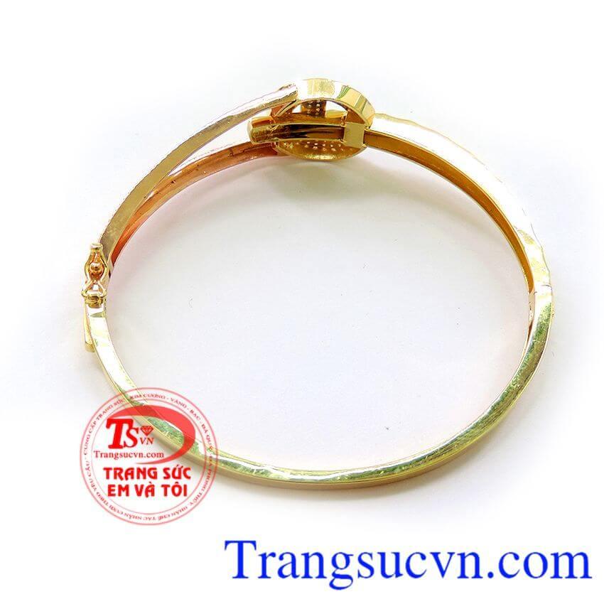 Vòng chanel xinh, vòng tay vàng tây hình chanel thời trang.