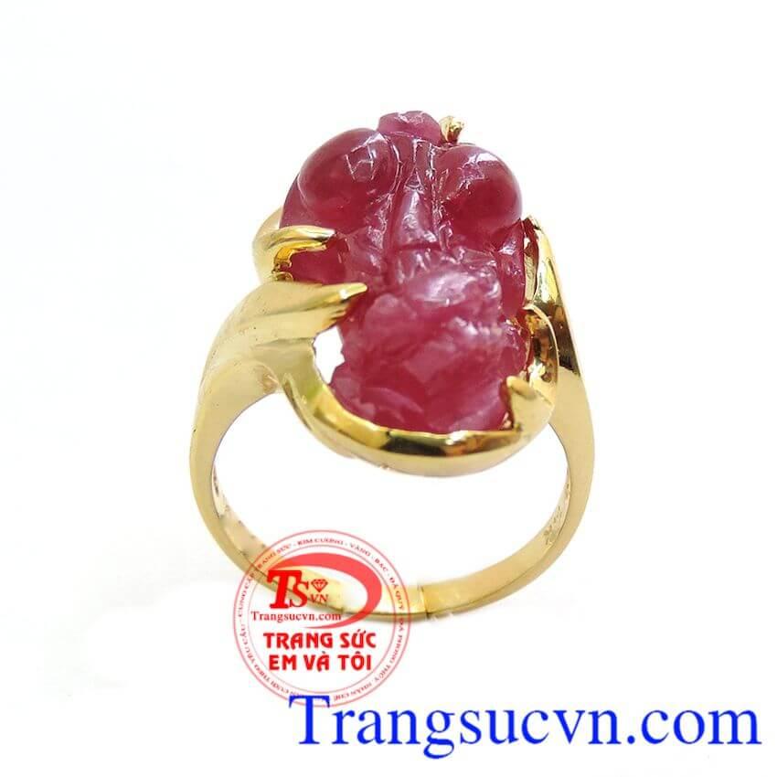 Nhẫn nữ ruby hồng ngọc