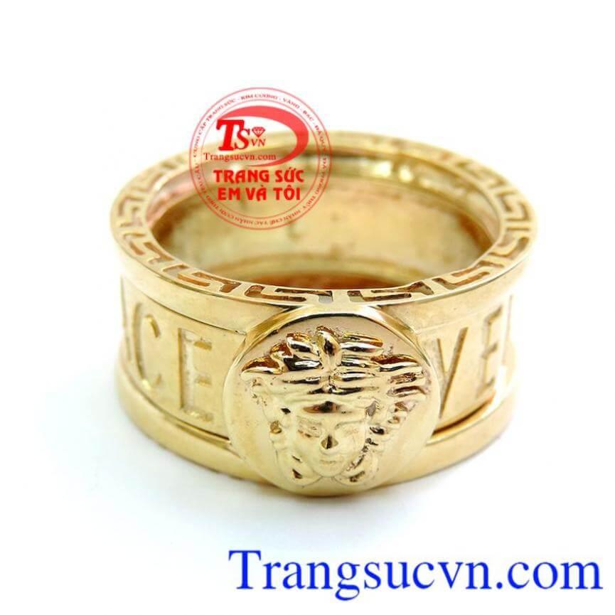 Nhẫn Vàng Versace Nam 10k