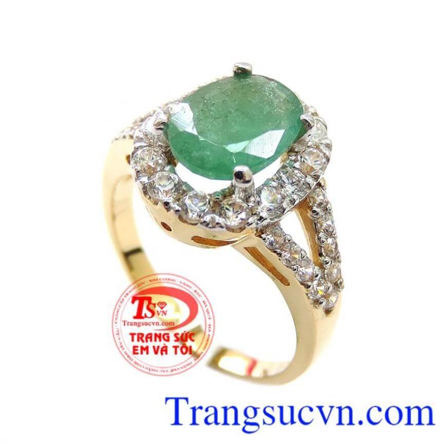 Nhẫn Nữ Emerald Quyền Quý