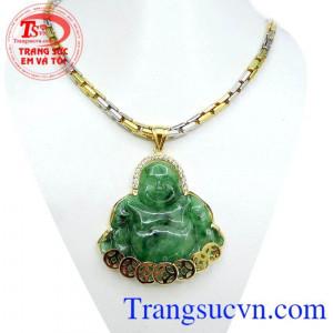 Phật di lặc may mắn dây vàng