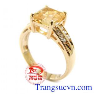 Nhẫn nữ đá Citrine