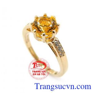 Nhẫn vàng Citrine