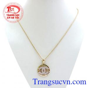 Chanel đính đá sang trọng bộ nữ, bộ dây chuyền chanel thời trang, vàng 10k chuẩn chất lượng, giao hàng toàn quốc.