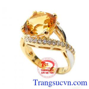 Nhẫn Nữ Vàng Mệnh Kim 14k