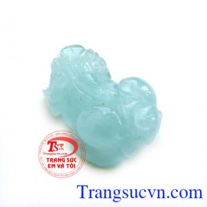 Mặt đá aquamarine-tỳ hưu