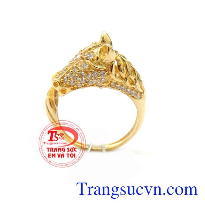 Nhẫn Nữ Vàng Tây Tuổi Ngọ 10k