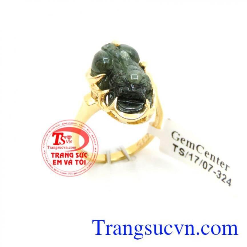 Nhẫn nữ tỳ hưu sapphire 14k