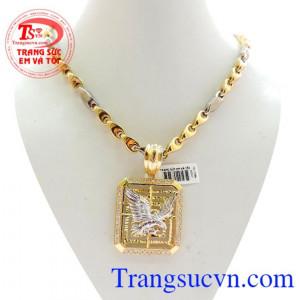 Bộ Mặt Dây Chuyền Vàng Đại Bàng 10k Đẹp chất lượng vàng đảm bảo