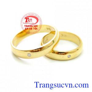 Nhẫn Cưới Kim Cương Vàng 10k, nhẫn cưới đẹp, nhẫn cưới vàng tây