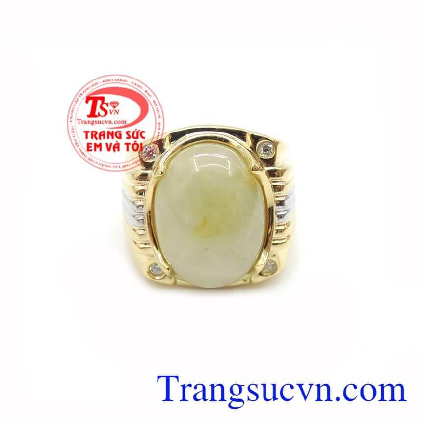 Nhẫn Nam 14k Gắn Đá Saphire Tài Lộc là món đồ trang sức thích hợp cho những gia chủ mệnh Thủy, mệnh Kim