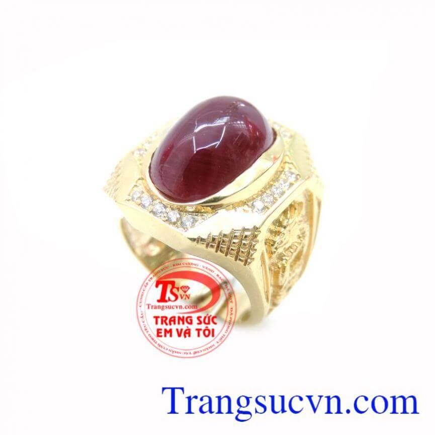 Nhẫn Nam Ruby Rồng Vàng Đẳng Cấp