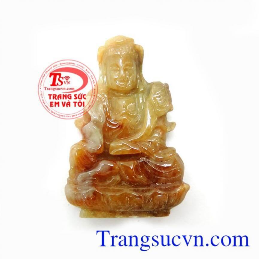 Mặt Phật Quan Âm Cẩm Thạch Tự Nhiên 100%