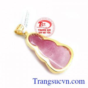 Mặt Phật Quan Âm Ruby Bọc Vàng 10k