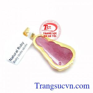 Mặt Phật Ruby Bọc Vàng Tinh Tế
