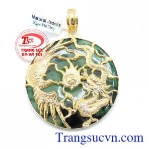 Mặt Dây Rồng Phượng Ngọc Jadeite