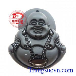 Phật Di Lặc Obsidian Cười Tươi