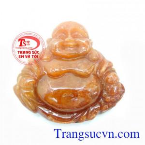 Ngọc Cẩm Thạch Loại A Khắc Hình Phật Di Lặc