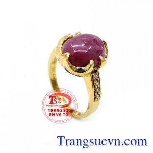 Nhẫn Nữ gắn Đá Ruby Thiên Nhiên