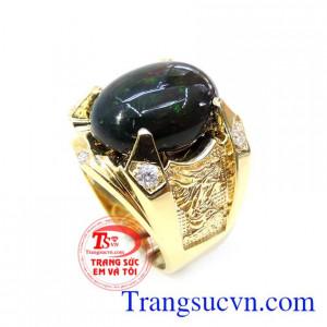 Nhẫn Nam Vàng Gắn Đá Opal Cao Cấp